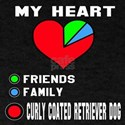My Heart, Friends, Family, Curly-Coat T-Shirt
