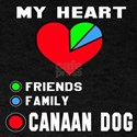 My Heart, Friends, Family, Canaan Dog T-Shirt