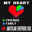 My Heart, Friends, Family, Anatolian T-Shirt