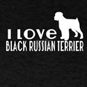 I Love Black Russian Terrier T-Shirt