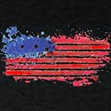 watercolor grunge American Flag T-Shirt