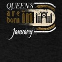 Gothic Birthday Queens Castle Born January T-Shirt