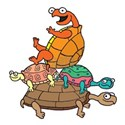 Cartoon Peace Turtle Stack of 4 T-Shirt
