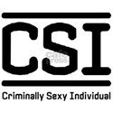 CSI - small logo one sided White T-Shirt