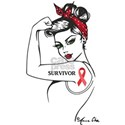 red ribbon survivor girl T-Shirt