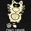 Fight Cancer Party Fun Statement Cat Cute T-Shirt