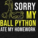 Sorry my Python ate my homework Back to Sc T-Shirt
