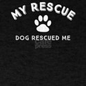 Rescue Dog Lover Novelty My Rescue Dog Res T-Shirt