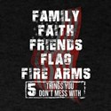 5 Things You Don't Mess With Me Vetera T-Shirt