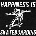 Happiness Is Skateboarding Birthday Gift T-Shirt