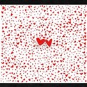 Red Tiny Love Hearts Background T-Shirt