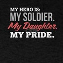 Proud Army Dad Mom Tshirt Daughter Soldier T-Shirt