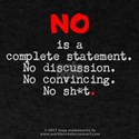 No is complete lg* red T-Shirt
