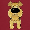 Big Nose Airedale Dark T-Shirt