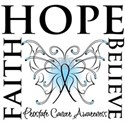 Hope Faith Prostate Cancer Women's T-Shirt