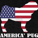 American Pug Dog Flag Memorial Day USA T-Shirt