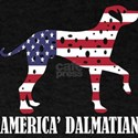 American Dalmatian Dog Flag Memorial Day U T-Shirt