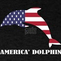 American Dolphin Flag Memorial Day USA T-Shirt