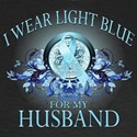 I Wear Light Blue for my Husband (floral)