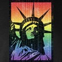Rainbow Liberty 'Vintage' Long Sleeve Dark T-Shirt