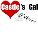 Personalizable Castle's Gal White T-Shirt