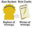 Castle - Righter Writer of Wrongs White T-Shirt
