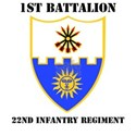 DUI - 1st Bn - 22nd Infantry Regt with Text White