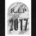 Rest In Peace 2017 Gravestone T-Shirt