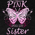 I Wear Pink For My Sister Butterfly T-Shirt