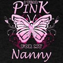 I Wear Pink For My Nanny Butterfly T-Shirt