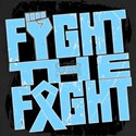 Fight The Fight Prostate Cancer Women's V-Neck Dar