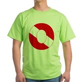 Scuba Flag Letter O Green T-Shirt