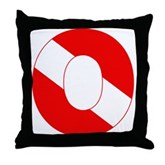 Scuba Flag Letter O Throw Pillow