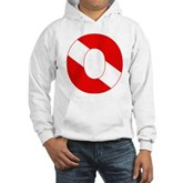 Scuba Flag Letter O Hooded Sweatshirt