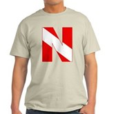 Scuba Flag Letter N Light T-Shirt