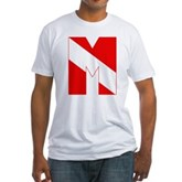 Scuba Flag Letter M Fitted T-Shirt