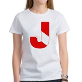 Scuba Flag Letter J Women's T-Shirt