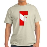 Scuba Flag Letter F Light T-Shirt