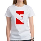 Scuba Flag Letter E Women's T-Shirt