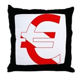 Scuba Flag Euro Sign Throw Pillow
