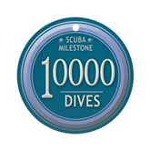10000 Dives Milestone Ornament (Round)