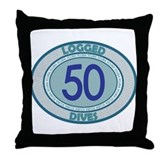 50 Logged Dives Throw Pillow