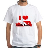I Love Cattle Boats White T-Shirt