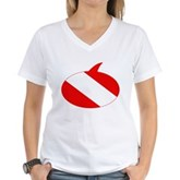 Text Bubble Dive Flag Women's V-Neck T-Shirt