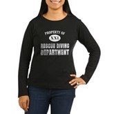 Rescue Diving Department Women's Long Sleeve Dark