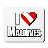 Scuba: I Love Maldives Mousepad