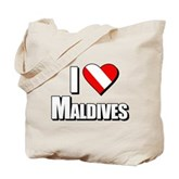 Scuba: I Love Maldives Tote Bag