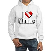 Scuba: I Love Maldives Hooded Sweatshirt