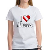 Scuba: I Love Maldives Women's T-Shirt