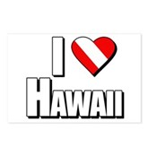 Scuba: I Love Hawaii Postcards (Package of 8)